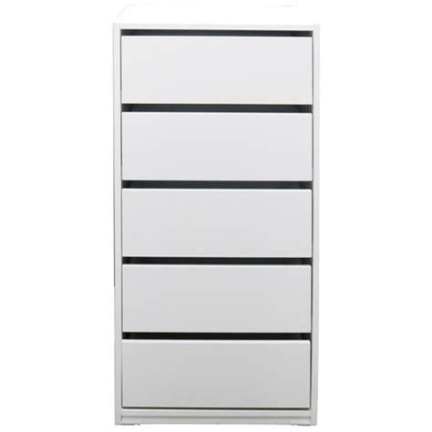 riteway 5 drawer budget melamine timber white clothes robe