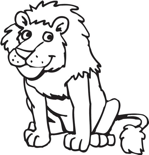 Printable Coloring Pages Lion | free printable lion coloring pages for kids