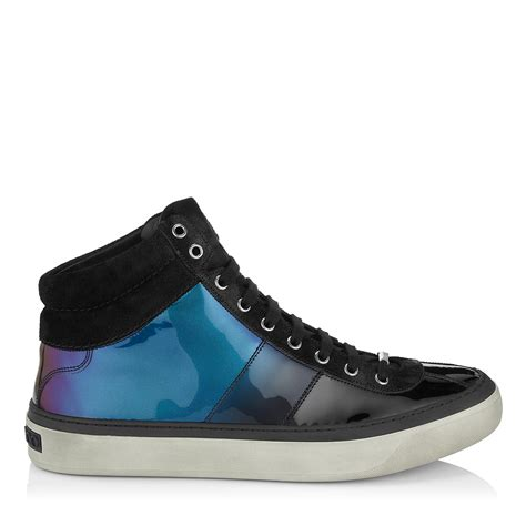 jimmy choo sneakers mens jimmy choo sneakers in blue for petrol lyst