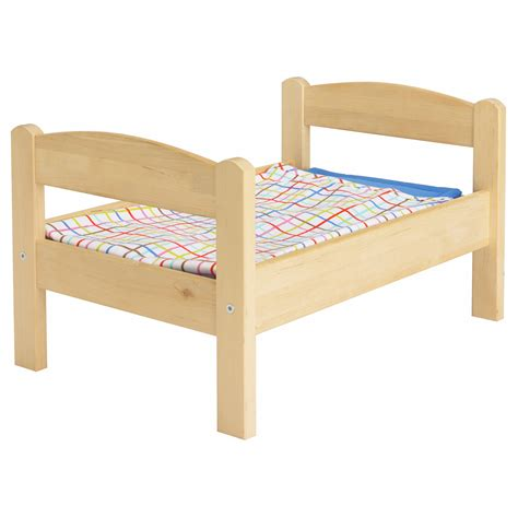 Duktig Doll S Bed With Bedlinen Set Pine Multicolour Ikea Bed Sets Ikea