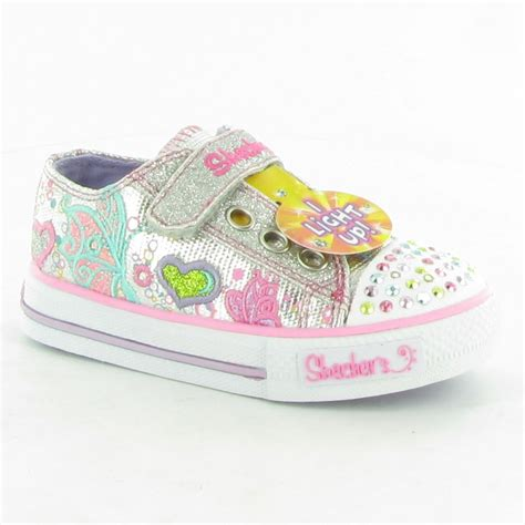 twinkle toes shoes for skechers canvas 10192 infant twinkle toe shoes in silver multi