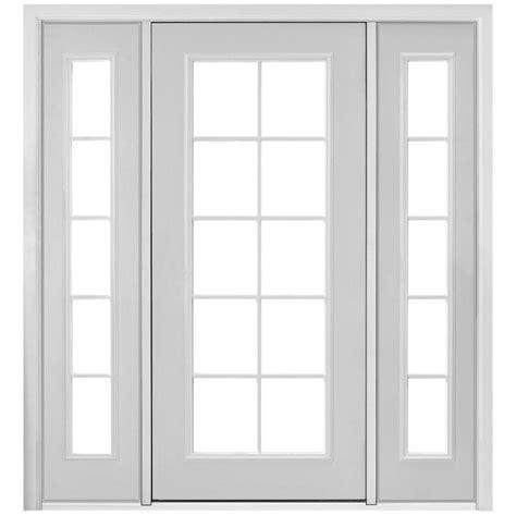 Prehung Patio Doors Masonite 72 In X 80 In Prehung Right Inswing 10 Lite Primed Steel Patio Door With