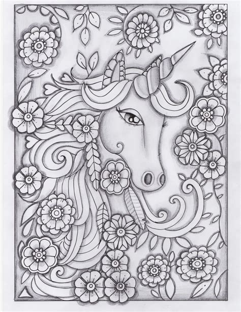 the enchantment of elves a magical greyscale and line colouring book of the of elves books coloring page unicorn instant fleurdoodles
