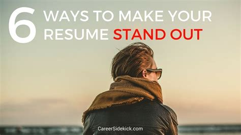 how to make your resume stand out tgam cover letter