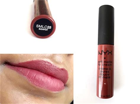 Review Lipstick Nyx Matte nyx soft matte lip budapest review swatches makeup and forever