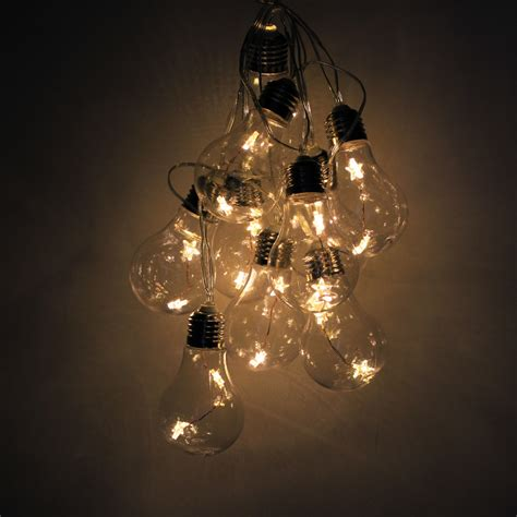 Edison Bulb Patio String Lights 10 Edison Bulbs Warm White Led String Light Garden Patio Gazebo Ebay