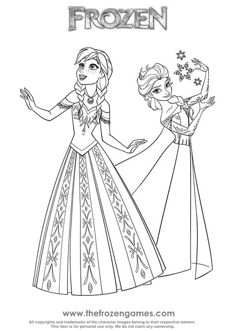 coloring pages games frozen two princesses of arendelle frozen games