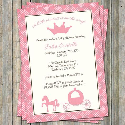 Disney Princess Baby Shower Invitations Princess Baby Shower Invitation Templates Free