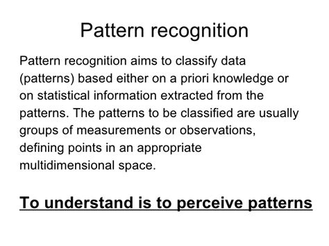 pattern recognition in stock market pattern recognition in stock market