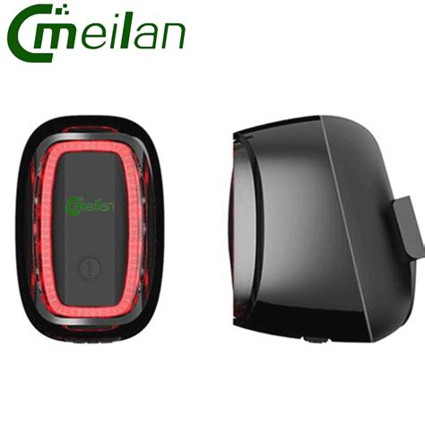 Lu Safety Sepeda Rechargeable Bicycle Smart Taillight Meilan X6 aliexpress buy meilan x6 bicycle rear light usb