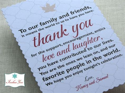 Gift Cards Welcome Wording - 12 best images about wedding thank you exles on pinterest thank you gifts