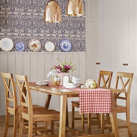 country style dining room with panelling dining room