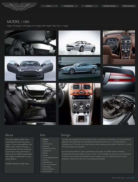 Aston Martin Website by Aston Martin Website On Behance