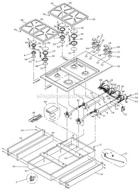 dacor cooktop replacement parts dacor sgm364 parts list and diagram after mf0000000