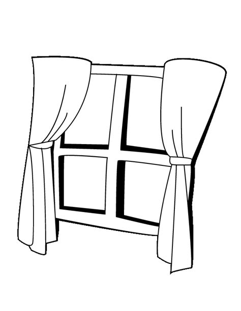 coloring page for window free coloring pages of window