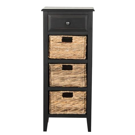 side table with storage safavieh michaela distressed black storage side table
