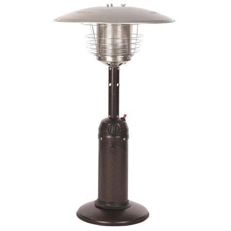 patio heater shop sense 10 000 btu bronze steel tabletop liquid propane patio heater at lowes