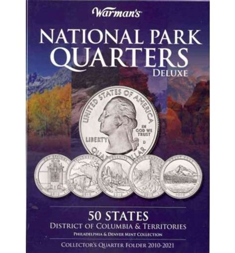 national park quarters collector map 2010 to 2021 includes a bonus san francisco s minted coin books national park quarters deluxe collector s quarter folder