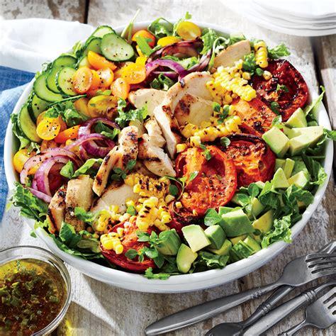 grilled chicken and vegetable summer salad recipe myrecipes