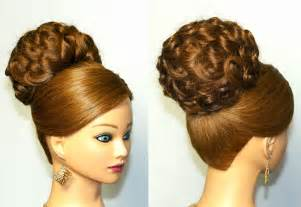 updo hair style for the method elegant updo bridal hairstyle for long hair tutorial