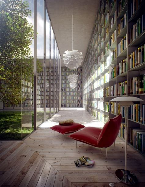 Modern Home Library Interior Design Modern Library Room Ideas By Evermotion 187 Library Room With Courtyard Quot Shhh Quot Libraries