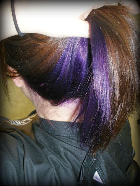 hair highlightening styles where bottom half of hair is highlighted 78 best ideas about purple peekaboo hair on pinterest
