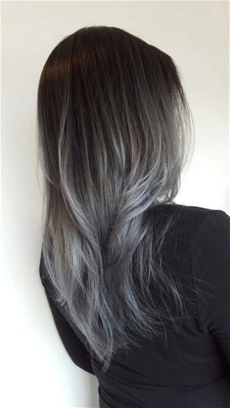 hairstyles with grey ombre the best antique chic black to grey ombre hairstyles