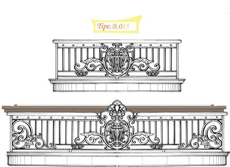 Balkon Besi Tempa Klasik harga pagar besi tempa per meter