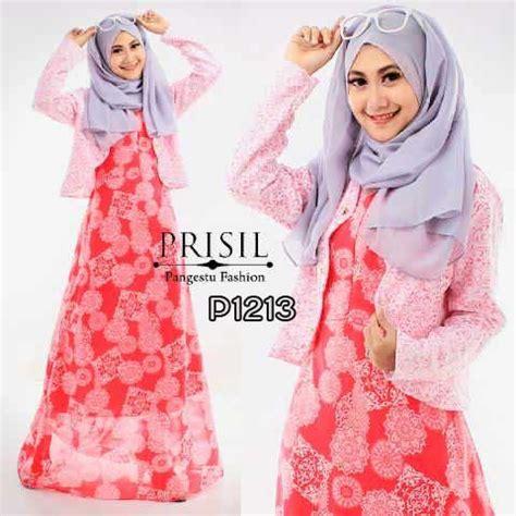 Baju Muslim Remaja Blezer Gamis Modern Prisil P1213 Pink Baju Muslim Remaja