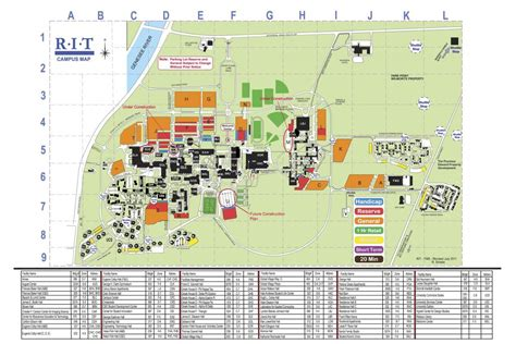 rit map permits facilities parking finance administration rochester institute of technology