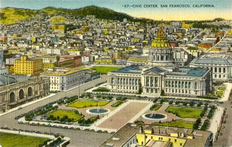 san francisco map civic center postcards from san francisco county california