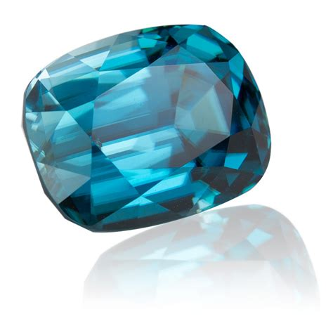 cambodia blue zircon cushion 12 24ct king gems