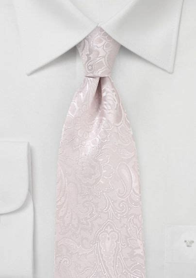 blush colored bow tie soft blush colored paisley necktie new wedding tie
