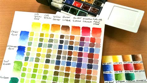 how to make a watercolour colour chart watercolour journey by ian mckendrick