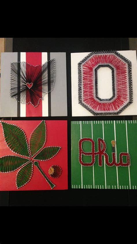Ohio State String - 12x12 ohio state buckeye leaf string by