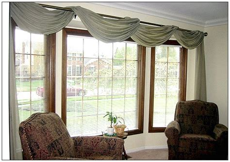 Valances For Wide Windows Scarf Window Treatment Pictures And Ideas