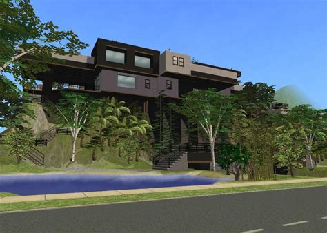cliff side house sims 2 cliffside house by ramborocky on deviantart