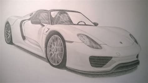 porsche drawing finally finished my drawing of the porsche 918 spyder