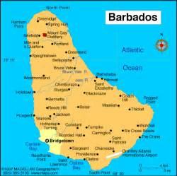 Barbados World Map by Sovereign Queen Elizabeth Ii 1952 Governor General Sir