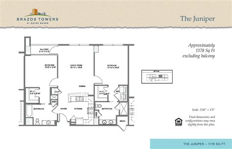 Juniper Floor Plan | juniper floorplan brazos towers at bayou manor