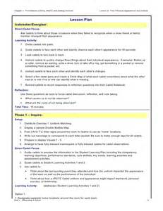 army lesson plan template lesson 5 lesson plan