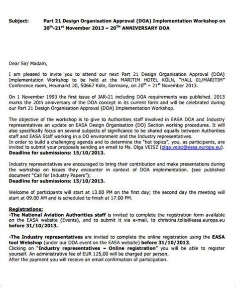 Conference Delegate Invitation Letter Staff Meeting Invitation Sle Futureclim Info