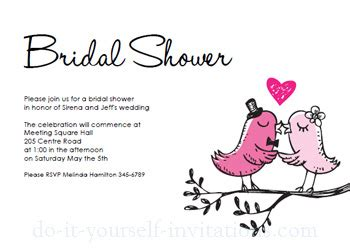 wedding shower card template free printable bridal shower invitations