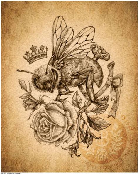 bees knees tattoo bee sepia bees knees bees and