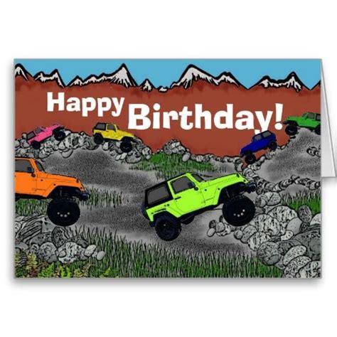 Birthday Jeep Wrangler Greeting Card Jeep