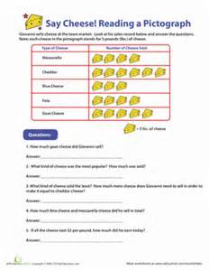 pictographs say cheese worksheet education com