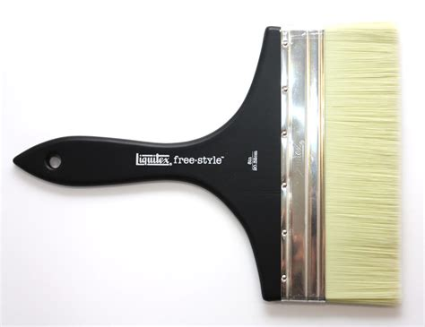 Large Scale Brush Liquitex Freestyle Broad Flat Brush 1 254cm liquitex mural broad flat handle brush ken bromley