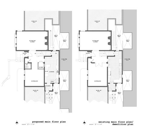 Existing Floor Plans 1020 Union St Residence Interior Remodel Charles Marr