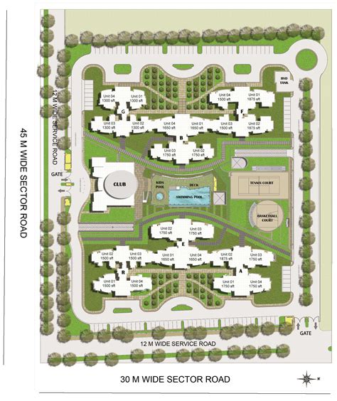 layout plan resort buy sale bptp the resort apartments sector 75 greater
