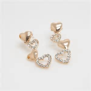 cool earrings gold hearts earring earrings simple earrings cool earring stud earrings gift